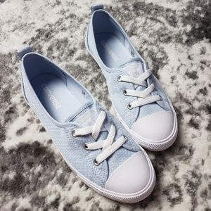 Converse Slip On Fake Laces Low Baby Blue